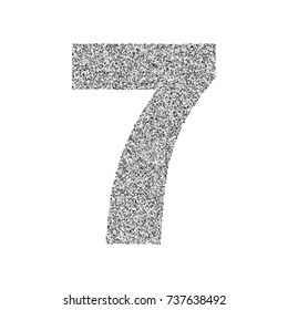 Silver glitter alphabet number 7. Ideal for wedding invitations, posters, greeting cards, banners, flyers, postcards, birthday party designs etc