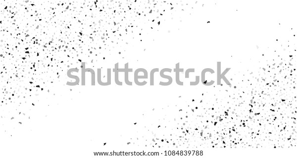 Silver glitter confetti on a white background. Illustration of a drop of shiny particles. Decorative element. Luxury background for your design, cards, invitations, gift, vip.