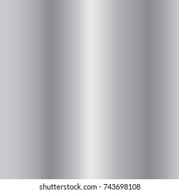 Silver gradient background. Silver design texture. Abstract silver gradient template. Metallic chrome pattern Vector illustration