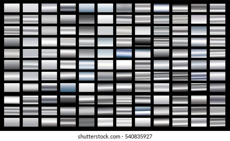 Silver gradient background vector icon texture metallic illustration. Realistic abstract design seamless pattern for frame, ribbon, banner, coin and label. Elegant light and shine template