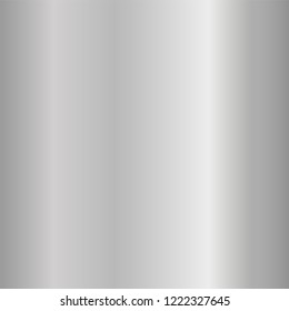 Silver gradient smooth texture. Empty gray metal background. Light metallic plate template, steel abstract pattern. Bright chrome foil design for elegant decoration, shiny banner Vector illustration