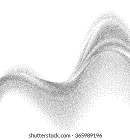 Silver gray dotted abstract wave vector background