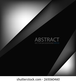 Silver and grey vector background hot color tone frame and square angle with black dark space for text and message modern artwork design