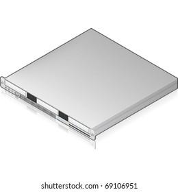 Silver Low Profile Server Unit