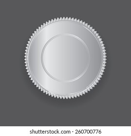 Silver medal template