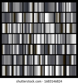 SIlver metal simple background, gradients big collection