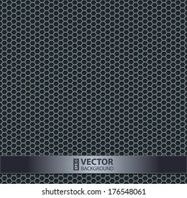Silver metallic grid background pattern. RGB EPS 10 vector illustration