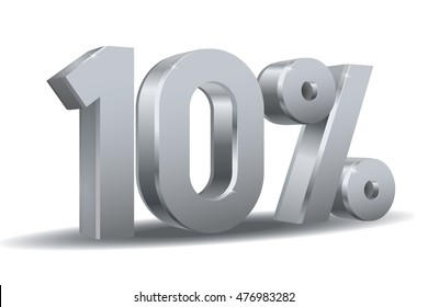 Silver Percentage vector, 10