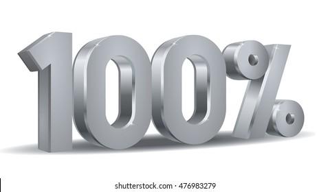 Silver Percentage vector, 100