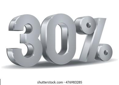 Silver Percentage vector, 30