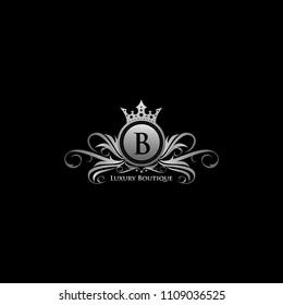 Silver Queen Luxury B Letter Logo