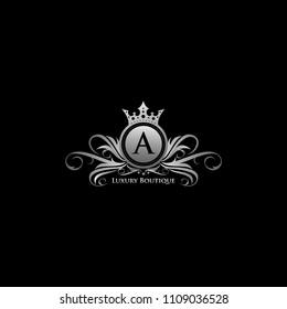 Silver Queen Luxury A Letter Logo
