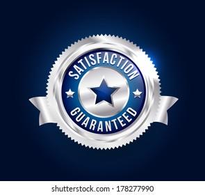 Silver Satisfaction Guaranteed Badge