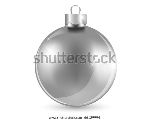 Silver shiny ball