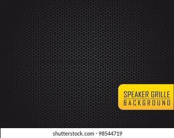 silver speaker grille over black background. vector illustration