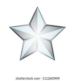 Silver Star 3D illustration