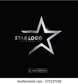 Silver Star Logo Vector