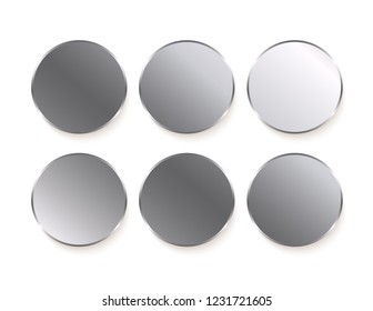 Silver stickers isolated