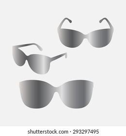 Silver Sunglasses icon, vector illustration