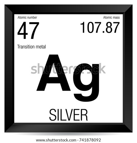 Silver Symbol Element Number 47 Periodic Stock Vector Royalty Free