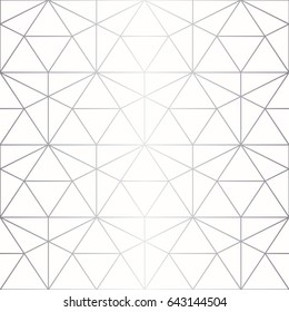 Silver texture. Seamless abstract geometric pattern. Silver background. Vector seamless pattern. Geometric background with rhombus and nodes.