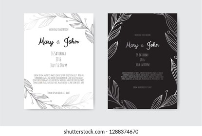 Silver Vector invitation with floral elements. Great for invitation design background , banners, flyers, party posters.