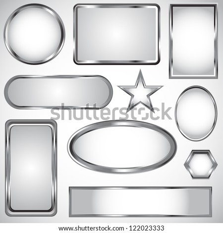 Silver Vector Label Frame EPS 10 Stock Vector (Royalty Free ...