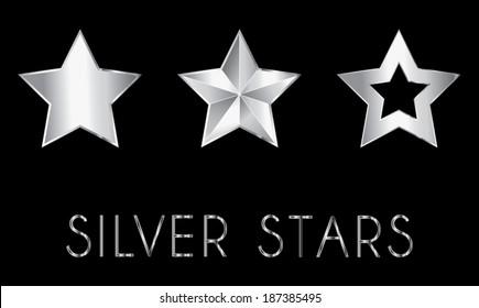 silver vector stars