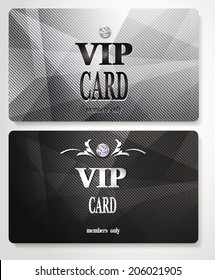 Silver VIP cards with relief background