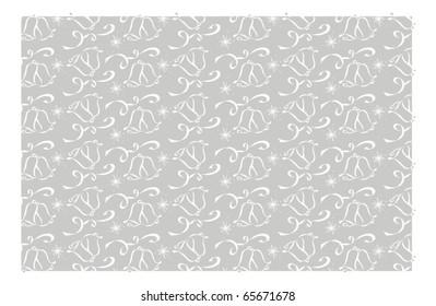 Silver Wedding Bell Background Pattern