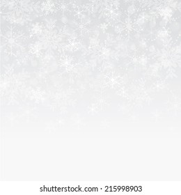 Silver and white snowflake background
