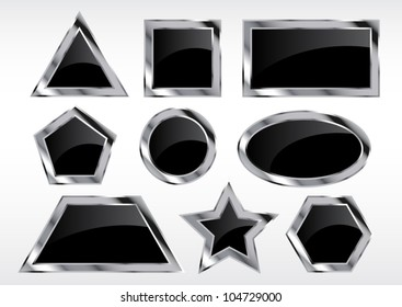 Silver-Black frames in various Geometric shapes