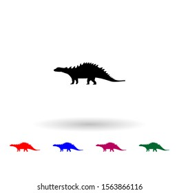 Silvisaur multi color icon. Simple glyph, flat vector of dinosaur icons for ui and ux, website or mobile application