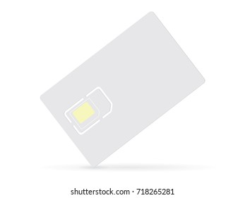 SIM card. Easy to change color mock up vector template