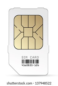 Sim card icon. Vector EPS-10