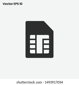 Sim card icon vector   phone card sign