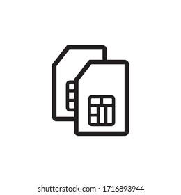 sim card icon vector symbol template