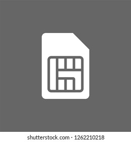 SIM card isolated on background. vector illustration - Vector