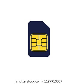 Sim card vector flat icon