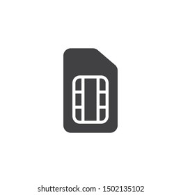SIM card vector icon. filled flat sign for mobile concept and web design. Phone Card glyph icon. Symbol, logo illustration. Vector graphics