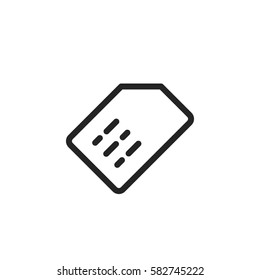 Sim card vector icon, micro chip symbol. Modern, simple flat vector illustration for web site or mobile app