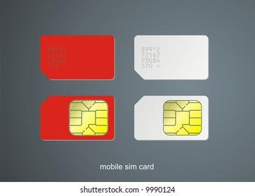 Sim card, vector illustration.