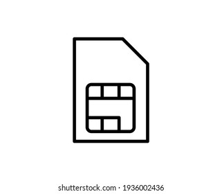 SIM line icon. Vector symbol in trendy flat style on white background. Web sing for design.