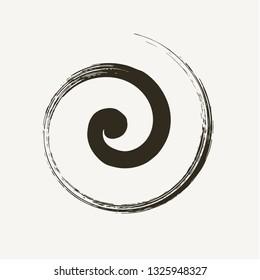 Simil handmade brush spiral vector