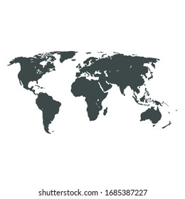 Similar World map. Minimalistic World map vector template for website, design infographics. Flat Earth Graph World map illustration