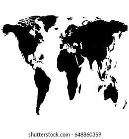 World map outline isolated on white vector de stock649607656 a similar world map on a white background vector template world map flat gumiabroncs Gallery