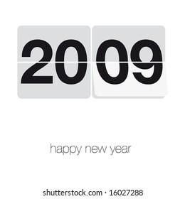 simle vector new year wish