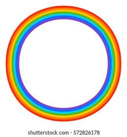Simple 7-color rainbow element