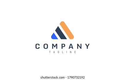 Simple abstract 3 pillars triangle vector design concept. Suitable for logo of technology, accounting and construction companies.
