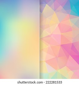 simple abstract background consisting of triangles